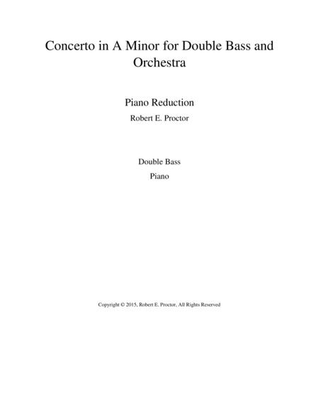 Concerto in A Minor for Double Bass and Orchestra - Piano Reduction