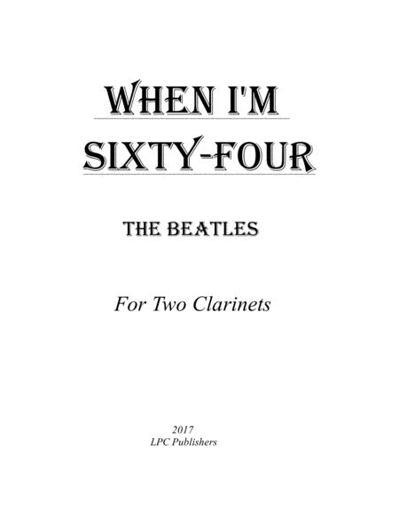 When I'm Sixty-Four for Two Clarinets