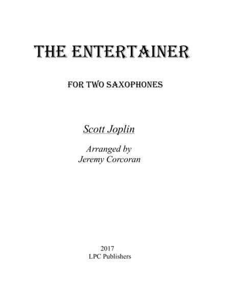 The Entertainer for Two Saxophones