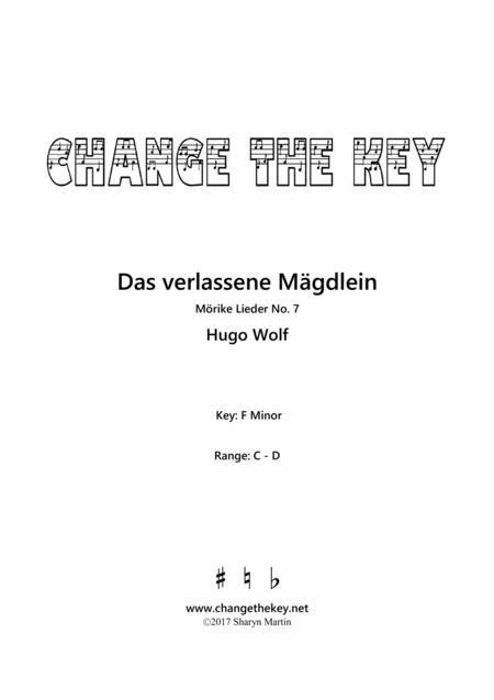 Das verlassene Magdlein - F Minor