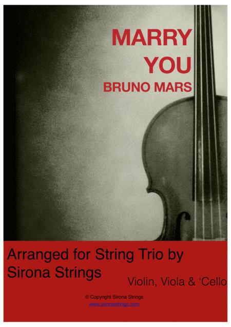 Marry You - String Trio (Violin, Viola, Cello)