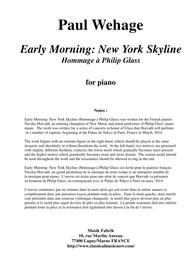 Paul Wehage: Early Morning: New York Skyline