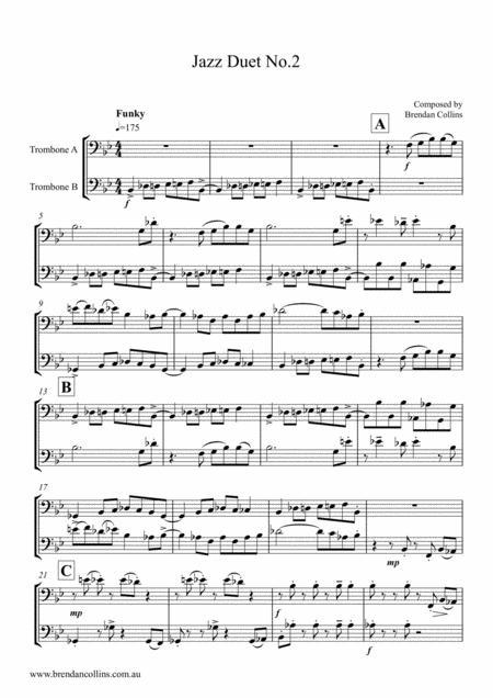 Jazz Duet No.2 (for 2 trombones)