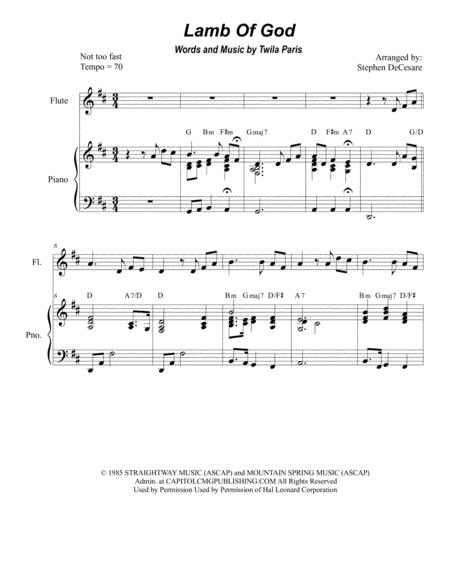 Lamb Of God (Duet for Flute and Bb-Clarinet)