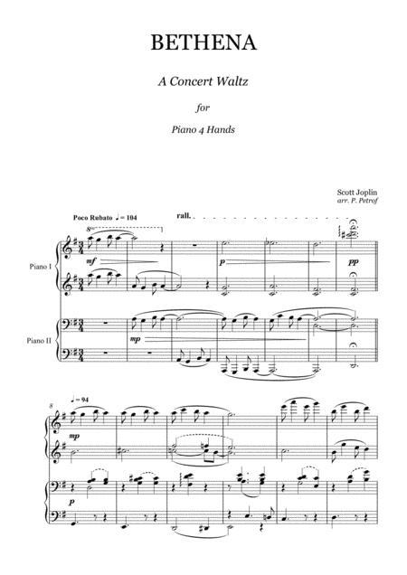 Joplin - Bethena Waltz - piano 4 hands
