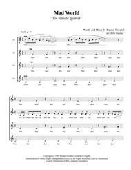 Download Mad World For SSAA Female Quartet A Cappella Sheet Music By