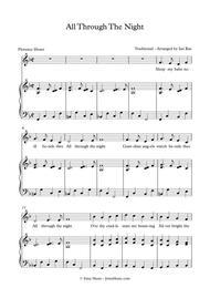 All Through The Night - Vocal Arrangement