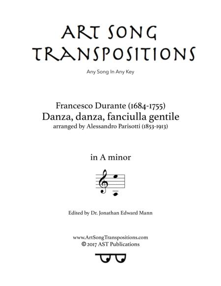 Danza, danza, fanciulla gentile (A minor)