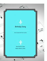 Birthday Song - vocal solo with piano accompaniment or piano solo