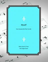 Myself - vocal solo with piano accompaniment or piano solo
