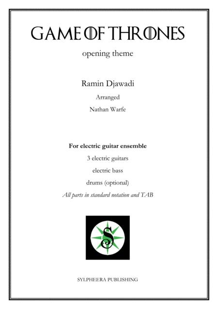 download game of thrones electric guitar ensemble sheet music by ramin djawadi sheet music plus. Black Bedroom Furniture Sets. Home Design Ideas