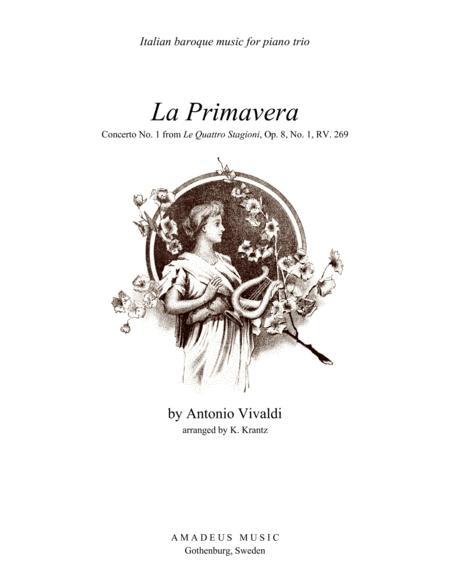 Primavera (Spring) RV. 269 - complete score for piano trio