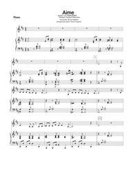 Aime (partition de piano d'accompagnement)