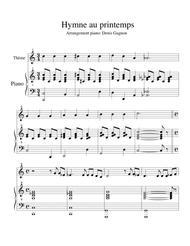 Hymne au printemps (partition de piano d'accompagnement)