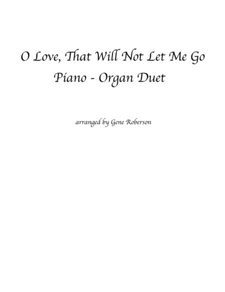 O Love That Will Not Let Me Go Piano-Organ Duet