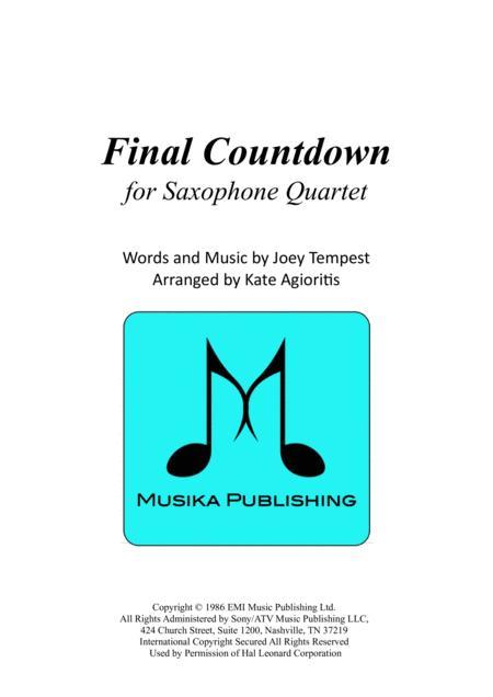 Final Countdown - for Saxophone Quartet