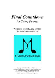 Final Countdown - for String Quartet
