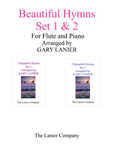 BEAUTIFUL HYMNS Set 1 & 2 (Duets - Flute and Piano with Parts)