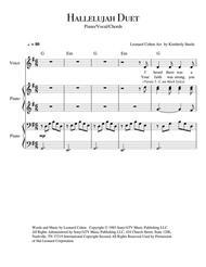 Hallelujah for Piano Duet (4-Hands)