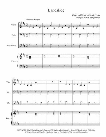 Download Landslide Sheet Music By Fleetwood Mac - Sheet Music Plus