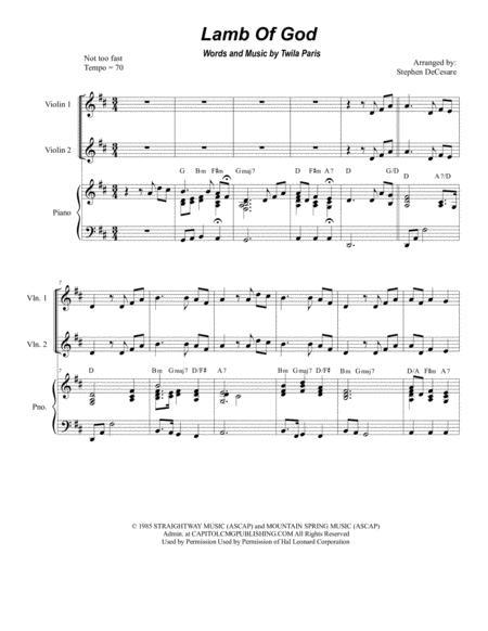 Lamb Of God (for String Quartet)