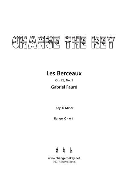 Les Berceaux - D Minor