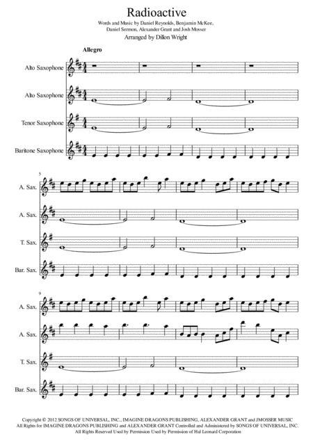 Radioactive by Imagine Dragons Saxophone Quartet