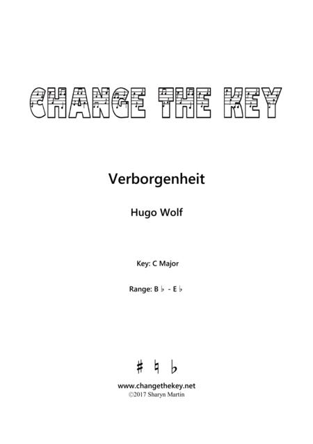 Verborgenheit - C Major