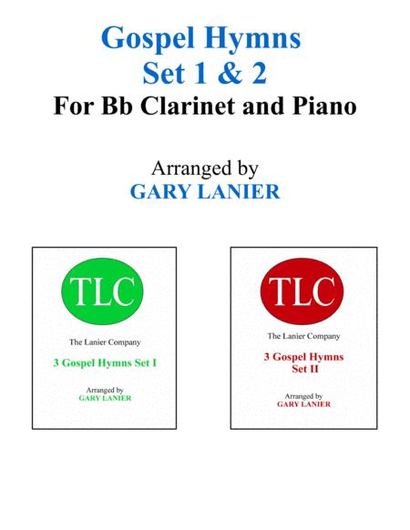 GOSPEL HYMNS Set 1 & 2 (Duets - Bb Clarinet and Piano with Parts)