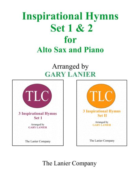 INSPIRATIONAL HYMNS Set 1 & 2 (Duets - Alto Sax and Piano with Parts)