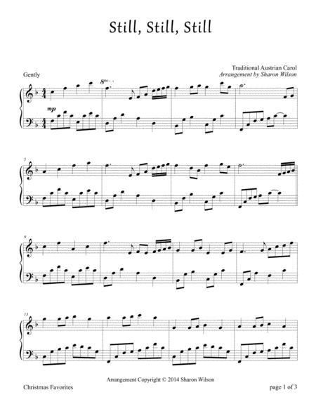 Still, Still, Still (Piano Solo) By Traditional Austrian ...