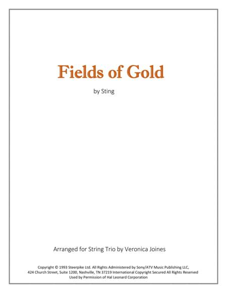 Fields Of Gold for String Trio (Violins and Cello)