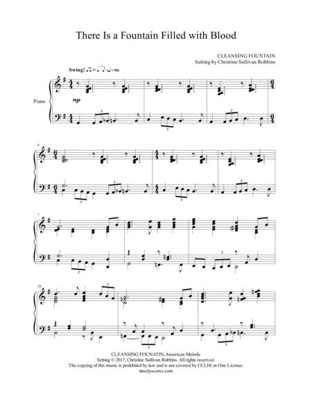Download There Is A Fountain Filled With Blood Sheet Music By