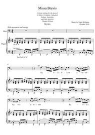 Kyrie Eleison (Missa Brevis for unison baritone voices)