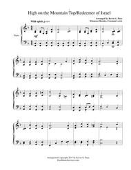 High on the Mountain Top - Redeemer of Israel - moderate level piano solo