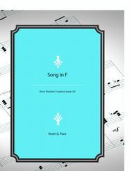 Song in F - advanced piano solo