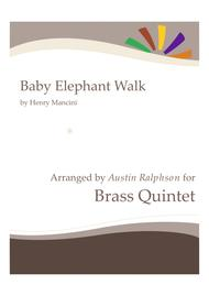 Baby Elephant Walk (from the Paramount Picture HATARI!) - brass quintet