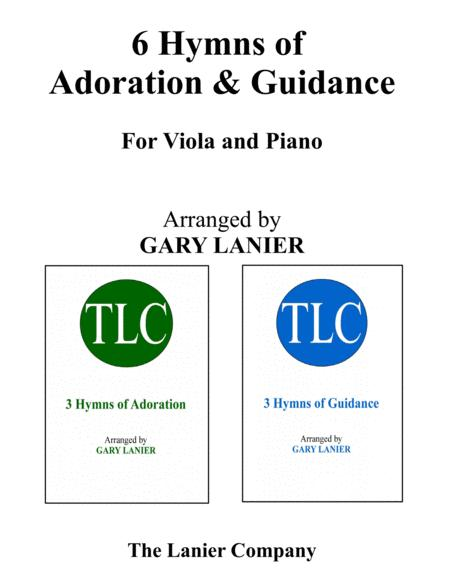 6 HYMNS of Adoration & Guidance Set 1 & 2 (Duets - Viola and Piano with Parts)