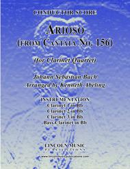 Arioso - from Cantata No. 156 (for Clarinet Quartet)