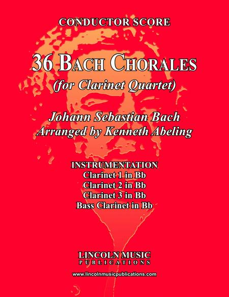 Bach Four-Part Chorales - 36 in Set (for Clarinet)