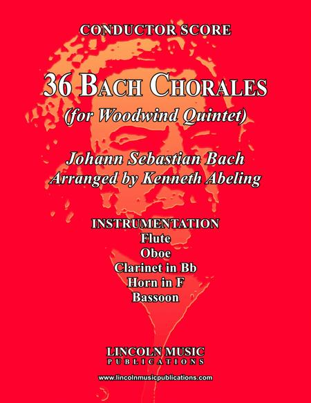 Bach Four-Part Chorales - 36 in Set (for Woodwind Quintet)
