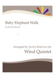 Baby Elephant Walk (from the Paramount Picture HATARI!) - wind quintet