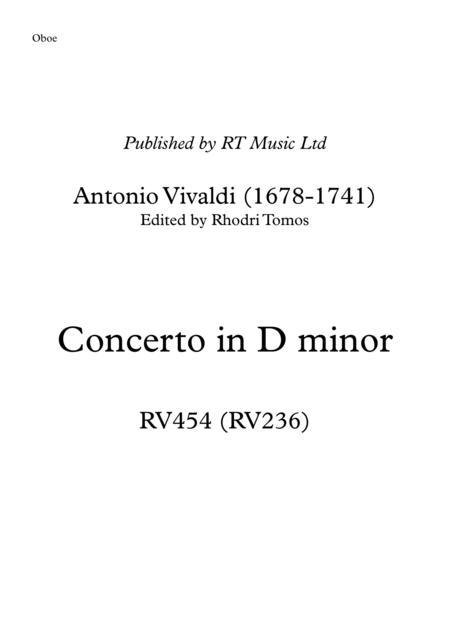 Vivaldi RV454 Concerto in D minor. Trumpet & oboe solo parts