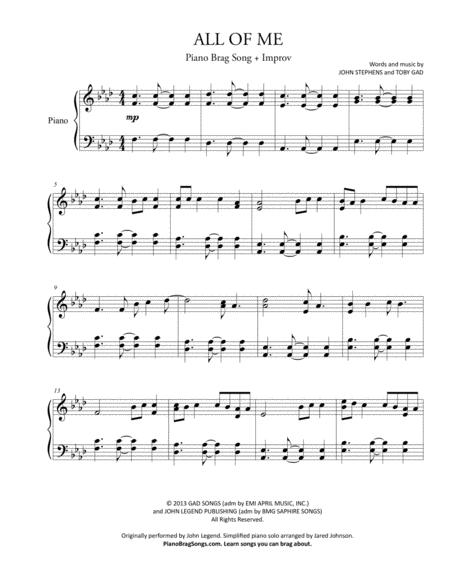 All Of Me - John Legend - Simplified Version + Improv
