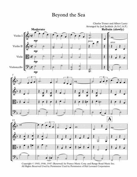 Beyond The Sea (for String Quartet)