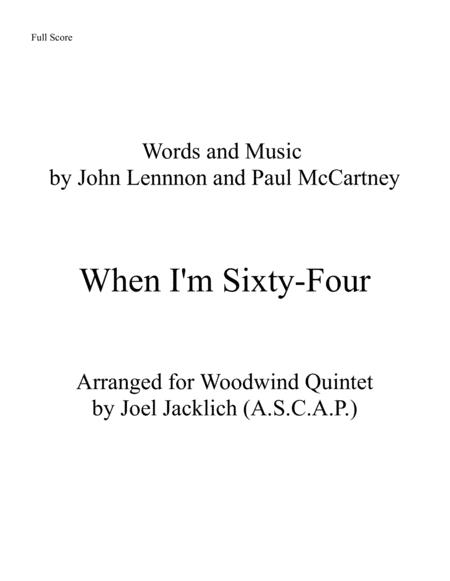 When I'm Sixty-Four (for Woodwind Quintet)