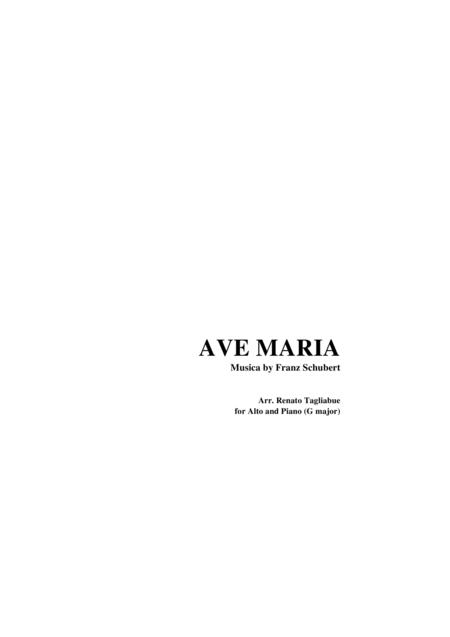 AVE MARIA by F. Schubert - Arr. for Alto and. Piano (G Maior)