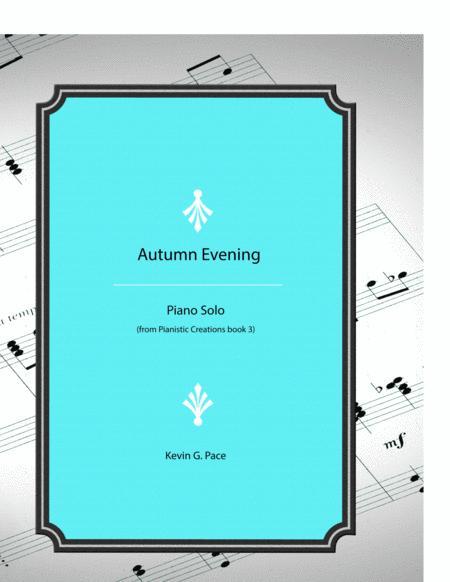 Autumn Evening - original piano solo