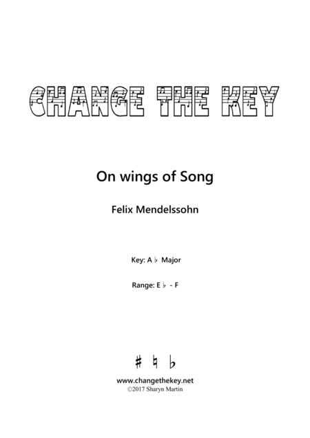 On wings of Song - Ab Major