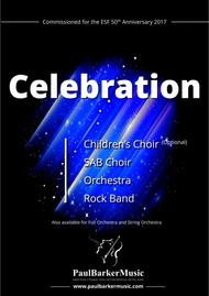 Celebration (Choir, Orchestra and Rock Band Score & Parts)